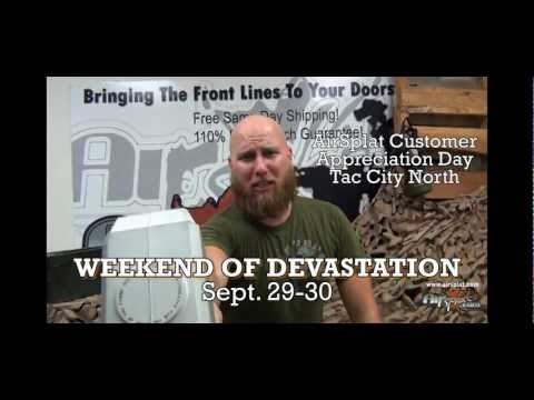 "AirSplat.com announces it's first annual ""Weekend of Devastation""-September 29th & 30th"