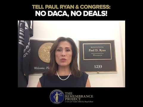 Maria Espinoza at Paul Ryan's Office Urging NO DACA, NO DEALS!