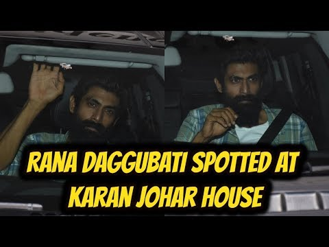 Rana Daggubati Spotted At Karan Johar House