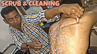Video Body scrub and body cleaning by Indian barber | Powerful neck cracking | ASMR MP3, 3GP, MP4, WEBM, AVI, FLV Januari 2019