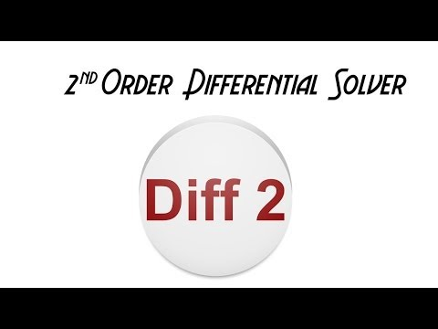 Video of 2nd Order Differential Solver