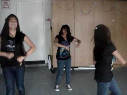 thersa armyn and alana dancin in my garage