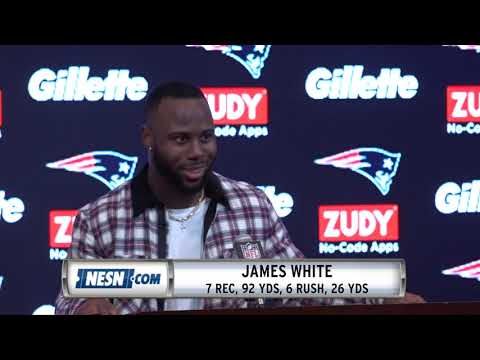 Video: James White Week 13 Patriots Vs. Vikings Postgame Press Conference