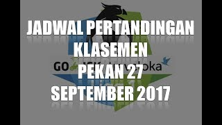 Video jadwal pekan 27 & KLASEMEN LIGA 1 GOJEK TRAVELOKA SEPTEMBER 2017 MP3, 3GP, MP4, WEBM, AVI, FLV Juli 2018