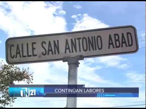 Continúan trabajos en cárcava de calle a San Antonio Abad