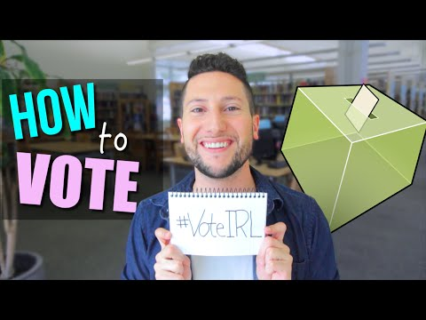 HOW DO I VOTE?? | #VoteIRL