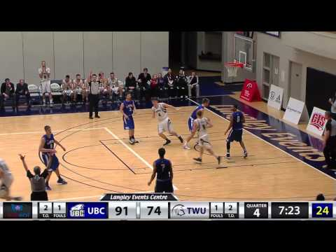 2015-01-23 TWU Men's Basketball Highlights vs UBC