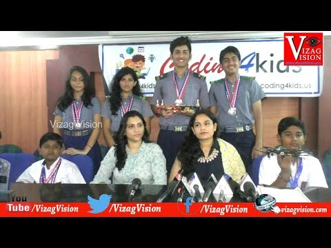 Coding 4kids British International Education BIEA STEM Youth Innovation Contest Winners UK in Visakhapatnam,Vizagvision...