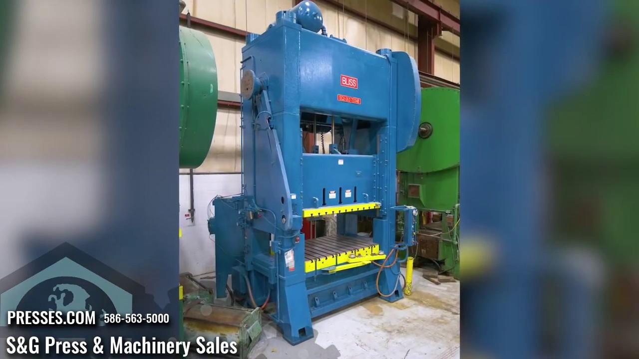 300 Ton BLISS SC2-300-72-48, Straight Side Press