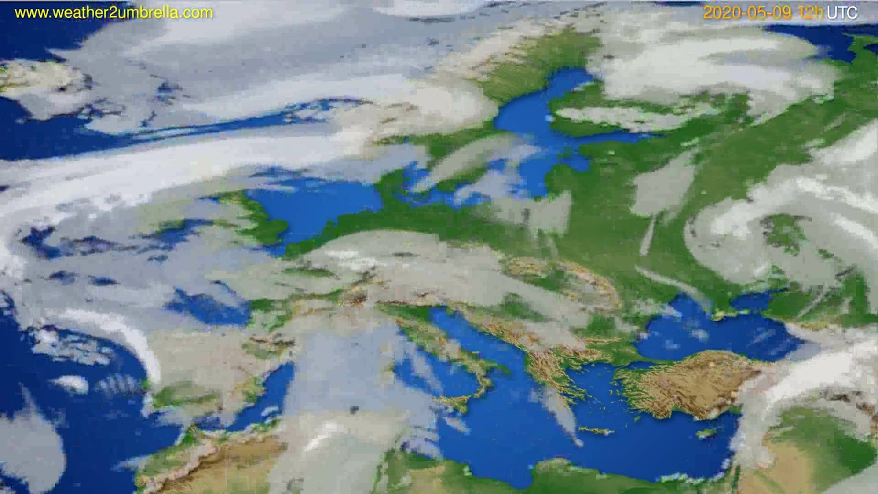 Cloud forecast Europe // modelrun: 00h UTC 2020-05-09