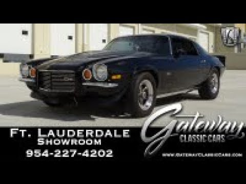 1973 Chevrolet Camaro Z28 Gateway Classic Cars Fort Lauderdale Stock #995