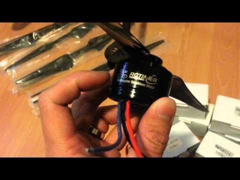 Moteur Drone DJI S800 - RCTIMER HP4114 350 KV - Supports Carbone et Alu Hélice