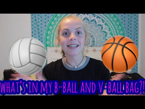 WHAT'S IN MY BASKETBALL & VOLLEYBALL BAG!🏀🏐