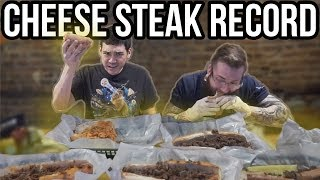 CHEESE STEAK RECORD BROKEN!! FOOD CHALLENGE FT MARK GDD