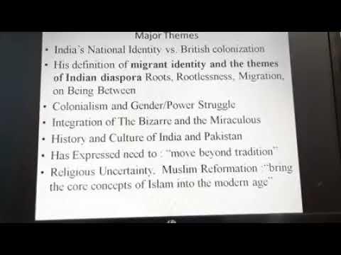 Salman Rushdie's  Midnight's Children - M.A. IV Sem by Dr. Bandana Bal Chandnani - Part 1 (English)