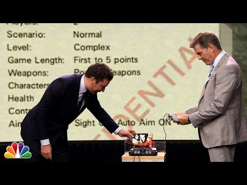 64 - Jimmy fulfills a childhood dream by playing the Nintendo 64 video game GoldenEye 007 against former James Bond actor Pierce Brosnan. Subscribe NOW to The Tonight Show Starring Jimmy Fallon:...