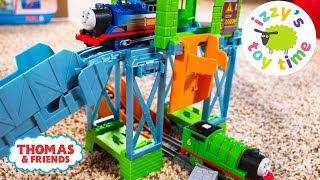 THOMAS TRAIN RESCUE Playset! Thomas and Friends Trackmaster and Firetrucks | Toy Trains for Kids