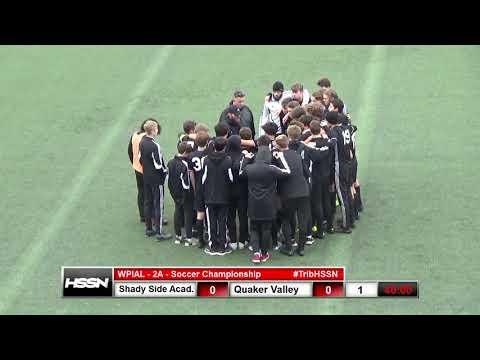 Quaker Valley Boys Soccer - 11/03/2018 - vs Shady Side Academy Trib Broadcast (WPIAL AA Finals)