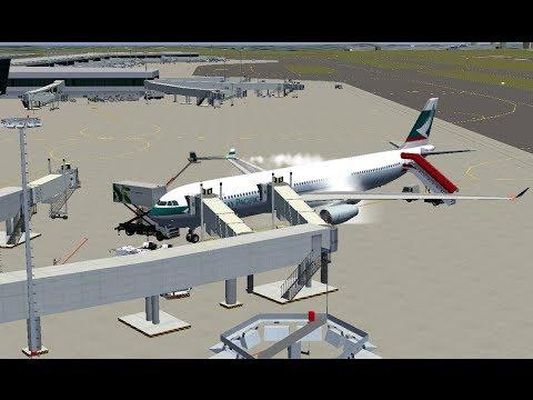 Flightgear 3.0 - 國泰航空 A330 降落新加坡漳州國際機場