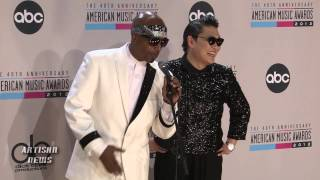 PSY, MC HAMMER AMERICAN MUSIC AWARDS MOMENT COURTESTY OF BIEBER BRAUN