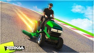 1000MPH LAWNMOWER DOWNHILL RACING! (GTA 5)