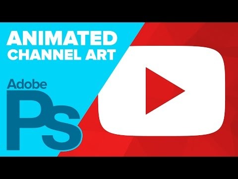 photoshop - YouTube now allows creators to upload ANIMATED GIFs for their channel art! This video shows you how to create a simple animation using Adobe Photoshop. Download the YouTube channel art template:...