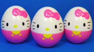 4 surprise eggs Kitty!!! HELLO KITTY eggs surprise unboxing toys for kids for baby mymillionTV