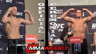 UFC 241 Split Screen Weigh-Ins: Nate Diaz, Cormier, Yoel Romero by MMA Weekly