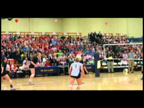 10/15/2010 - UW-Eau Claire volleyball wins 3-1 over Oshkosh - Highlights