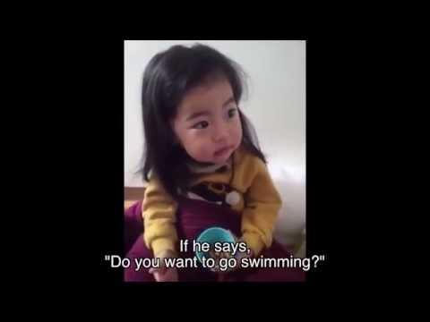 媽媽教小女孩不能跟陌生的男子吃冰淇淋(超萌反應xD)