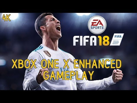 FIFA 18 Xbox One X Enhanced Gameplay (Man U Vs Real Madrid) (4K/60fps)