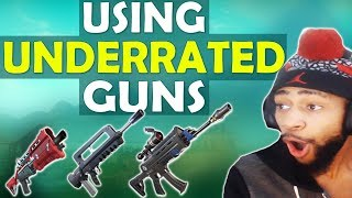 Video THE BURST RIFLE IS INSANE! | USING UNDERRATED GUNS - (Fortnite Battle Royale) MP3, 3GP, MP4, WEBM, AVI, FLV Agustus 2018