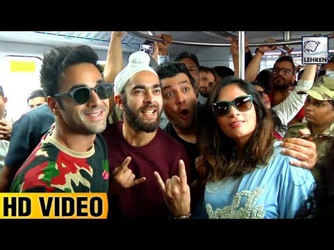 Fukrey Returns Team Travels In Mumbai Metro