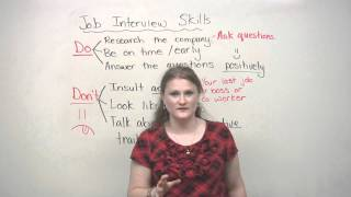 Job Interview Skills - DOs and DON'Ts