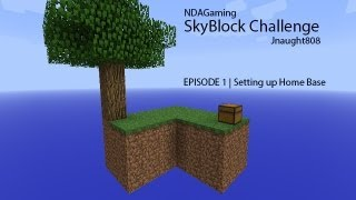 [Time Lapse] Skyblock Challenge_Episode 1 | Setting Up Home Base