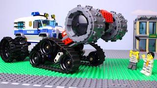 Video LEGO Cars and Trucks Experemental Steamroller Police, Fire truck, tractor, dump truck Video for Kids MP3, 3GP, MP4, WEBM, AVI, FLV Agustus 2019