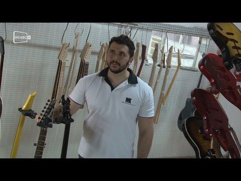 Empreendedor de Santo André fabrica guitarras para grandes nomes da música