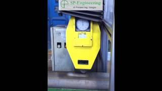 Stazione robotizzata di rilettura codici Data Matrix su bombole in acciaio dopo la fase di sabbiatur
