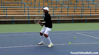 Tennis Highlights, Video - Personalizing Your Game (tennis footwork drills)