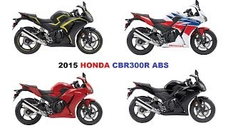 8. 2015 HONDA CBR300R ABS, fresh new look and arrives in August.