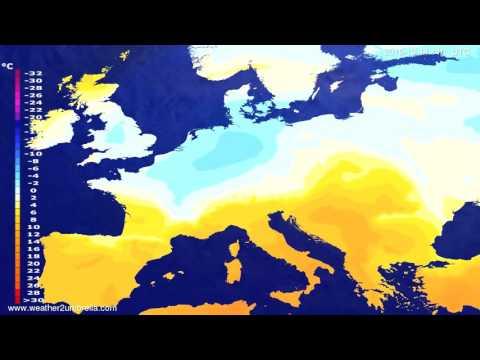 Temperature forecast Europe 2015-10-11