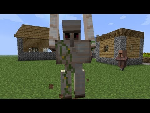 MineCraft 1.2 Iron Golems