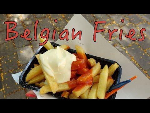 Belgian Fries taste test in Bruges, Belgium
