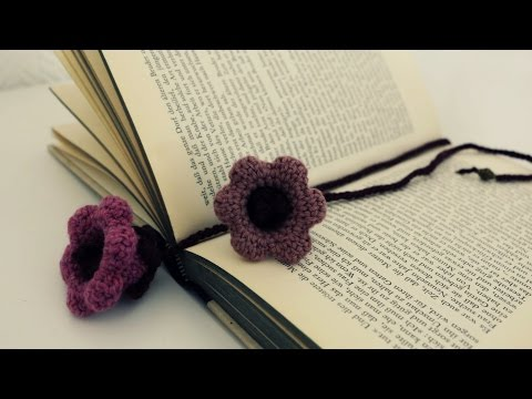 Lesezeichen häkeln * DIY * Crochet Bookmark [eng sub]