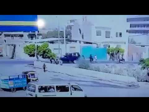 فيديو لحظه وقوع الحادث الارهابي علي سياره شرطه امام كوبري ابوصير طريق المريوطيه