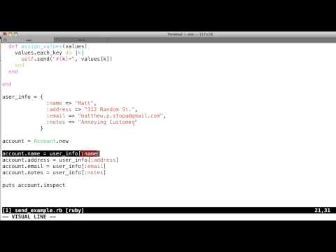 Ruby Metaprogramming Tutorial - Part 1 - Send Method