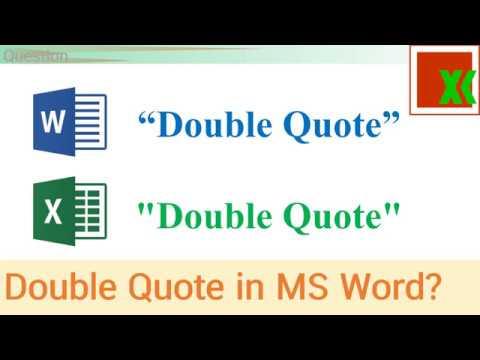 MS Word vs Excel Double Quote | เครื่องหมายคำพูดใน Word