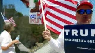 Diamond Bar (CA) United States  city photos gallery : Trump Rally Freeway Overpass Diamond Bar, CA