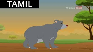Aesop Fables In Tamil - Story 15 The Bear and the Two Travellers  (Animated Stories) (Tamil)