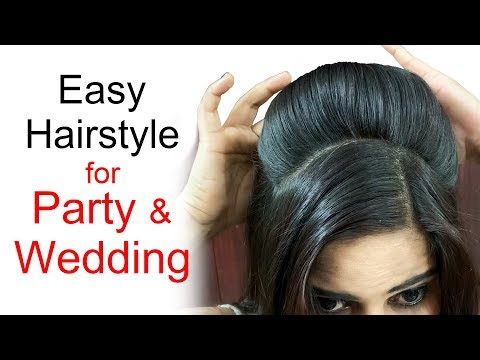 Short hair styles - Easy Wedding Hairstyles  Puff Hairstyles  Hairstyles for medium or long hair